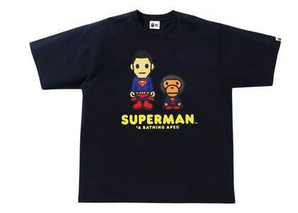Bape × DC Baby Milo Superman Tee Navy Womens (SS21)の写真