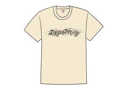 Supreme Smoke Tee Naturalの写真