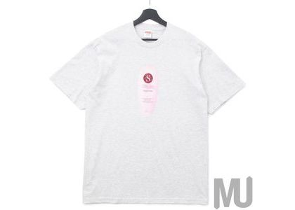 Supreme Super Cream Tee Ash Greyの写真