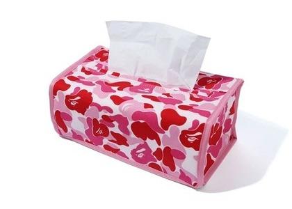 Bape Home ABC Camo Tissue Cover Pink (SS21)の写真
