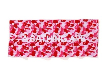 Bape Home ABC Camo Logo Towel Logo/Pink (SS21)の写真