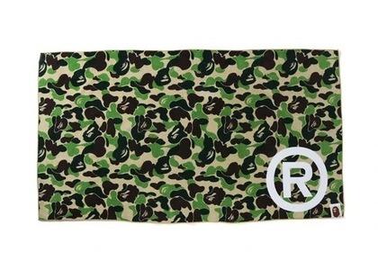 Bape Home ABC Camo Towel R/Logo/Green (SS21)の写真