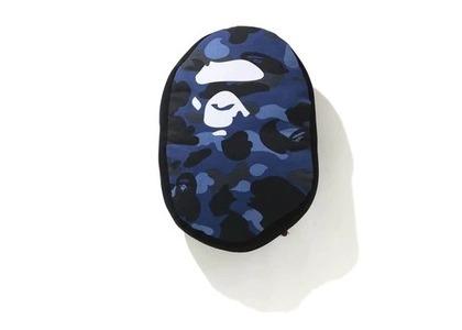 Bape Home Color Camo Ape Head Cushion Navy (SS21)の写真