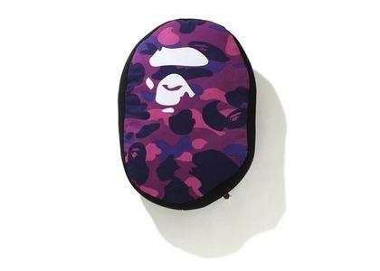 Bape Home Color Camo Ape Head Cushion Purple (SS21)の写真