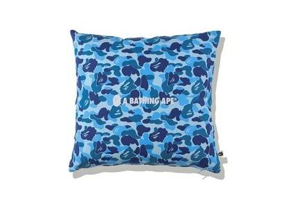 Bape Home ABC Camo A Bathing Ape Square Cushion Blue (SS21)の写真