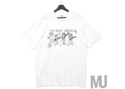 Supreme The Velvet Underground Drawing Tee Whiteの写真
