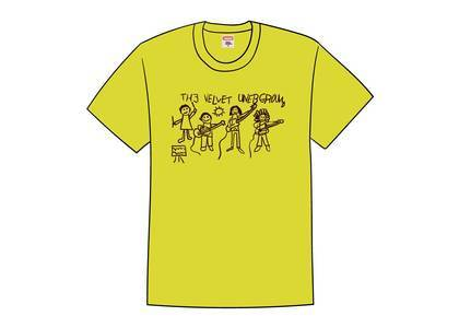 Supreme The Velvet Underground Drawing Tee Yellowの写真
