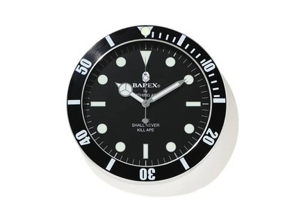 Bape Home Bapex Wall Clock Black (SS21)の写真