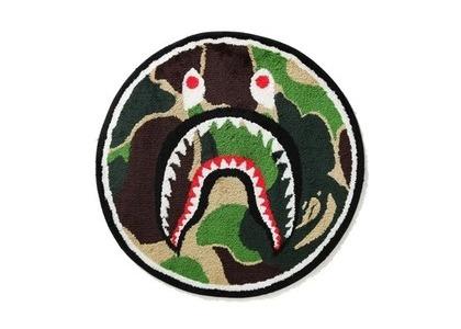 Bape Home ABC Camo Shark Rug Mat Green (SS21)の写真