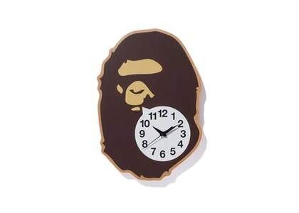 Bape Home × Clockworksand × Karimoku Ape Head Wall Clock Brown (SS21)の写真