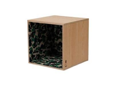 Bape Home × Fabrick × Karimoku ABC Camo Square Shelf Green (SS21)の写真