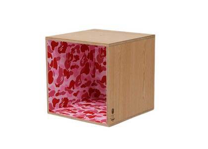 Bape Home × Fabrick × Karimoku ABC Camo Square Shelf Pink (SS21)の写真