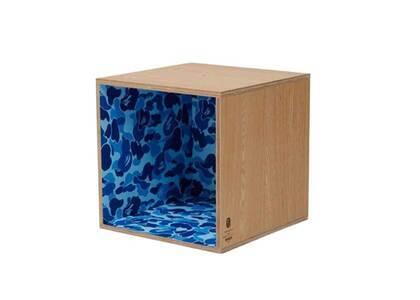 Bape Home × Fabrick × Karimoku ABC Camo Square Shelf Blue (SS21)の写真