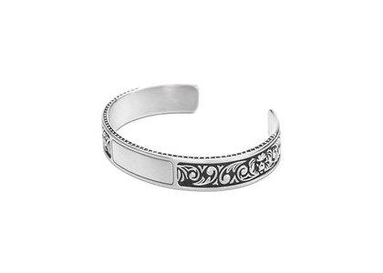 Bape Black Narrow Cuff Bracelet Silver (SS21)の写真