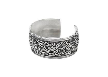 Bape Black Wide Cuff Bracelet Silver (SS21)の写真