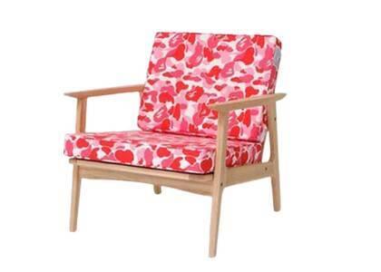 Bape Home × Fabrick × Karimoku ABC Camo Single Seat Sofa Pink (SS21)の写真