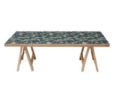 Bape Home × Fabrick × Karimoku ABC Camo Folding Table M Green (SS21)の写真