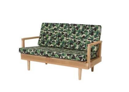 Bape Home × Fabrick × Karimoku ABC Camo Two Seat Sofa Green (SS21)の写真