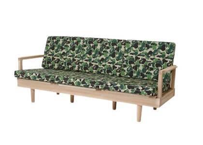 Bape Home × Fabrick × Karimoku ABC Camo Three Seat Sofa Green (SS21)の写真