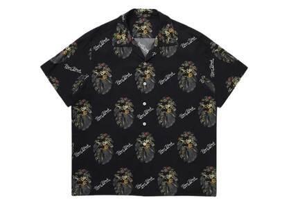 Bape Black Floral Mad Face Hawaii Shirt Black (SS21)の写真