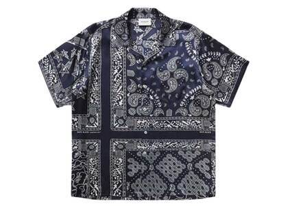 Bape Black Bandana Hawaii Shirt Navy (SS21)の写真