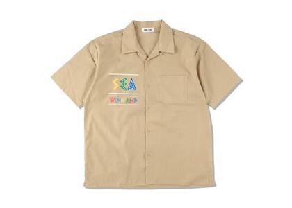 WIND AND SEA Zulu-Tongue S/S Open Collar Shirt Beige (SS21)の写真