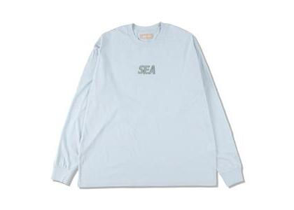 GREENable HIRUZEN × WIND AND SEA L/S Tee Blue Mallow (SS21)の写真