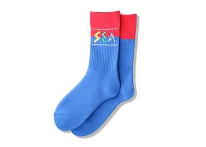 WIND AND SEA Zulu-Tongue Sox Blue / Red (SS21)の写真