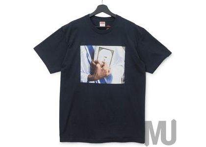 Supreme Bible Tee Navyの写真