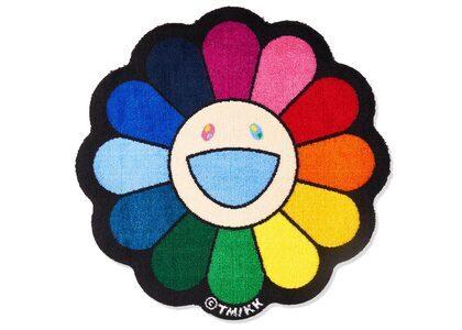 Kaikai kiki Flower Floor Mat Rainbow / Ecru beigeの写真