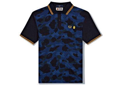 Fred Perry × Bape Polo Shirt Blue (SS21)の写真