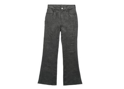 X-Girl Faux Suede Flare Pants Blackの写真