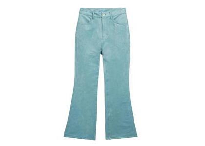 X-Girl Faux Suede Flare Pants Light Blueの写真