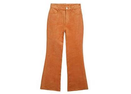 X-Girl Faux Suede Flare Pants Orangeの写真