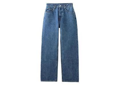 X-Girl High Waisted Loose Fit Pants Light Indigoの写真