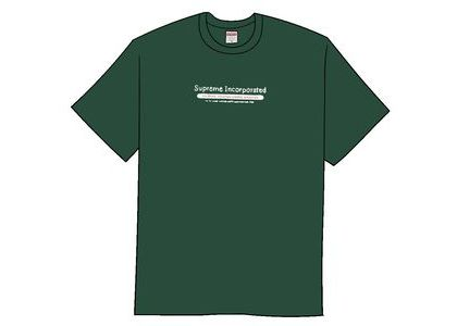 Supreme Inc. Tee Dark Greenの写真