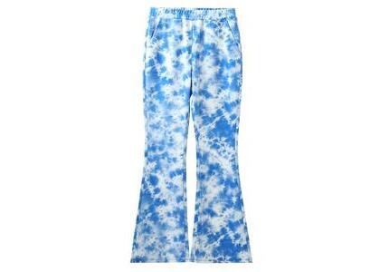 X-Girl Multi Pattern Easy Flare Pants Blueの写真