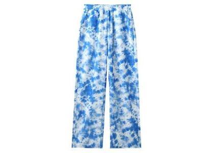 X-Girl Multi Pattern Easy Straight Pants Blueの写真