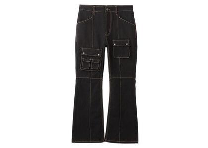 X-Girl Multi PocketS Flare Pants Blackの写真