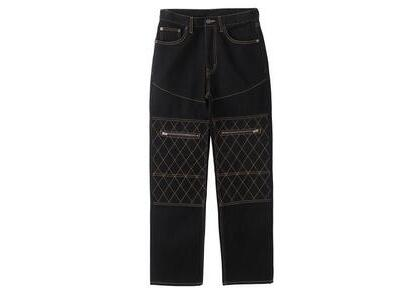 X-Girl Quilted Stitch Pants Blackの写真