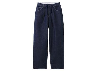X-Girl Wide Tapered Pants Indigo (XS-M)の写真