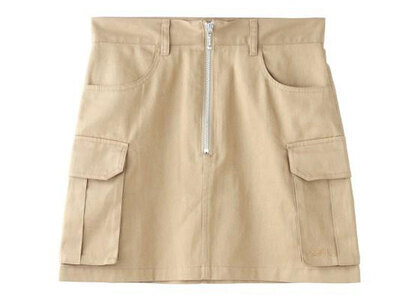 X-Girl Zip-Front Skirt Beigeの写真