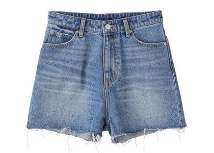 X-Girl 5 Pocket High Waist Short Pants Light Indigoの写真
