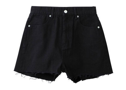 X-Girl Basic High-Waisted Short Pants Blackの写真