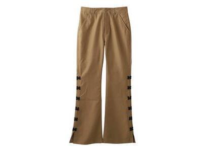 X-Girl China Slit Flare Pants Beigeの写真