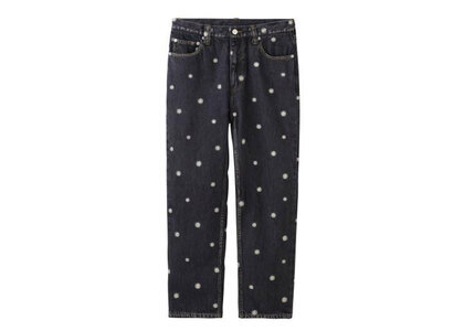 X-Girl Daisy Embroidery Pants Blackの写真
