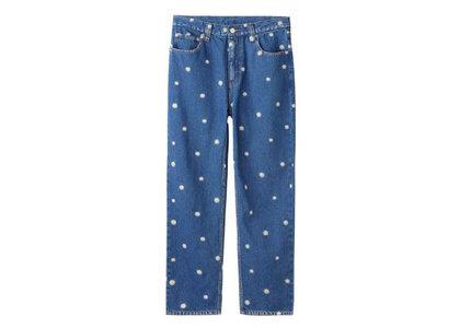 X-Girl Daisy Embroidery Pants Light Indigoの写真