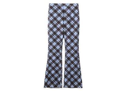 X-Girl Diamond Plaid Flare Pants Light Blueの写真