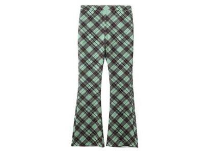 X-Girl Diamond Plaid Flare Pants Light Greenの写真
