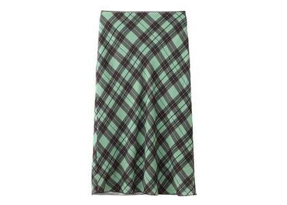 X-Girl Diamond Plaid Midi Skirt Light Greenの写真